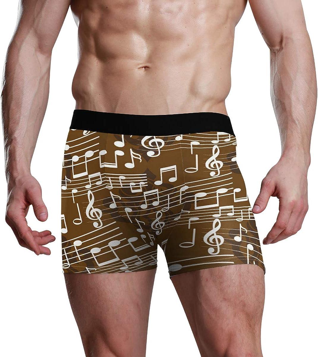 HangWang Mens Underwear Briefs Endless Abstract Pattern Breathable Long Boxer Briefs Underwear Boys