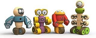 BeginAgain Tinker Totter Robot Character Set, 28Piece Playset, Kids 3 & Up