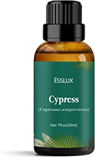 Cypress Essential Oil, Esslux Aromatherapy Essential Oils for Diffuser, Massage, Perfume, Incense, 30 ml