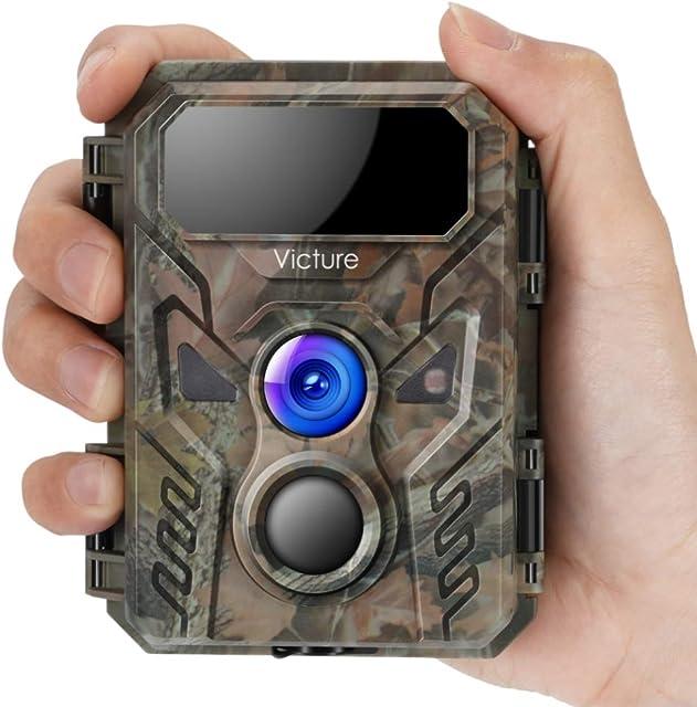 Victure Camara de Caza 16MP 1080P Nocturna Cámara Fototramp Vigilancia con Diseño Impermeable IP66 y Flash Invisible Detección de Acción para Monitoreo de Vida Silvestre y Seguridad de Casa