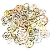 Rosenice - Ingranaggi vintage in stile Steampunk, ruote dentate, per gioielli e ciondoli, 100g (colori assortiti)