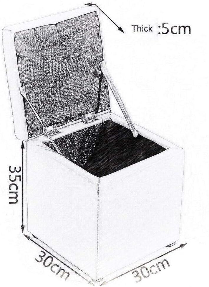 YUMUO Tabouret Pliant en Cuir Canapé Repose-Pieds Repose-Pieds Siège Lounge en Similicuir Repose-Pieds Maison Chambre Boîte De Rangement Chaise 30x30x35 cm F1218 (Couleur: Vert) 4