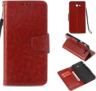 Galaxy J7 V Case Case Wallet/Samsung Galaxy J7 Prime Case / J7 Sky Pro Case/J7 2017 /J7 Perx/Galaxy Halo Case,Voanice Luxury PU Leather with Card Slots Kickstand Flip Cover Protective&Stylus-Brown