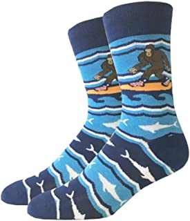 Surfing Bigfoot One Size Fits Most Crew Socks