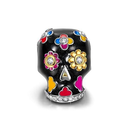 62ff0451aea23 Skull Charm Bracelet: Amazon.com