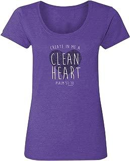 Women's Boutique T-ShirtClean HeartHeather Purple