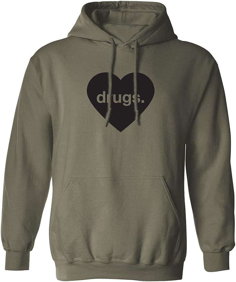 Drugs Heart Adult Hooded Sweatshirt