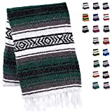 Handcrafted Mexican Blankets, Artisanal Handwoven Serape Blanket, Authentic Falsa Blanket, Great As Beach Blanket, Camping...