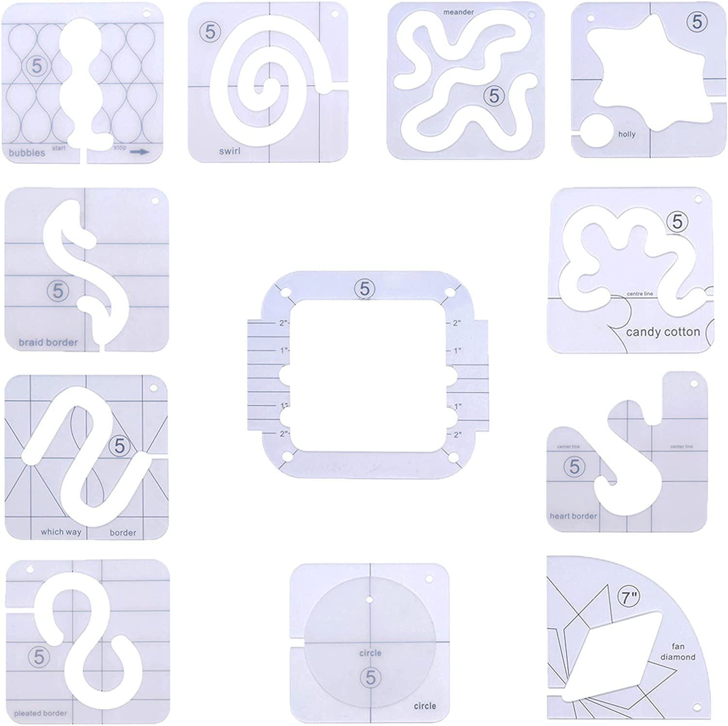 MOFANS 11Pcs Free Motion Spasm price with Template Quilting Max 44% OFF Frame