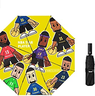 Automatic Umbrella UV Protection Umbrella Folding Umbrella Men and Women Travel Umbrella Portable Umbrella Gaozs (Color : Yellow)