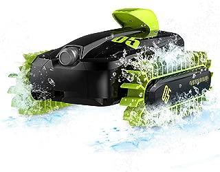 SGOTA RC Car 2.4 Ghz 4WD Stunt Car 6 Channels Amphibious Car 360° Rotation Vehicle Car Flips Land & Water(Green)