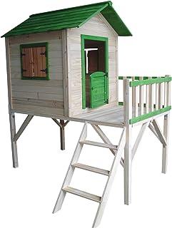 Outdoor Toys Casita Infantil de Madera Funny 188x161x216 cm - KNH1005