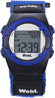 WobL - BLUE 8 Alarm Vibrating Reminder Watch, Kids Watch