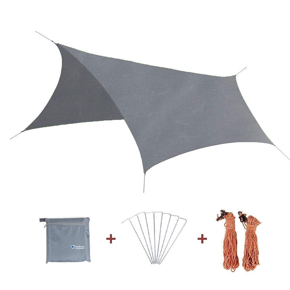 アロング傷つける共産主義者TRIWONDER 六角形 タープ グランドシート 防水軽量 天幕 テントシート キャンプマット 収納バッグ付き