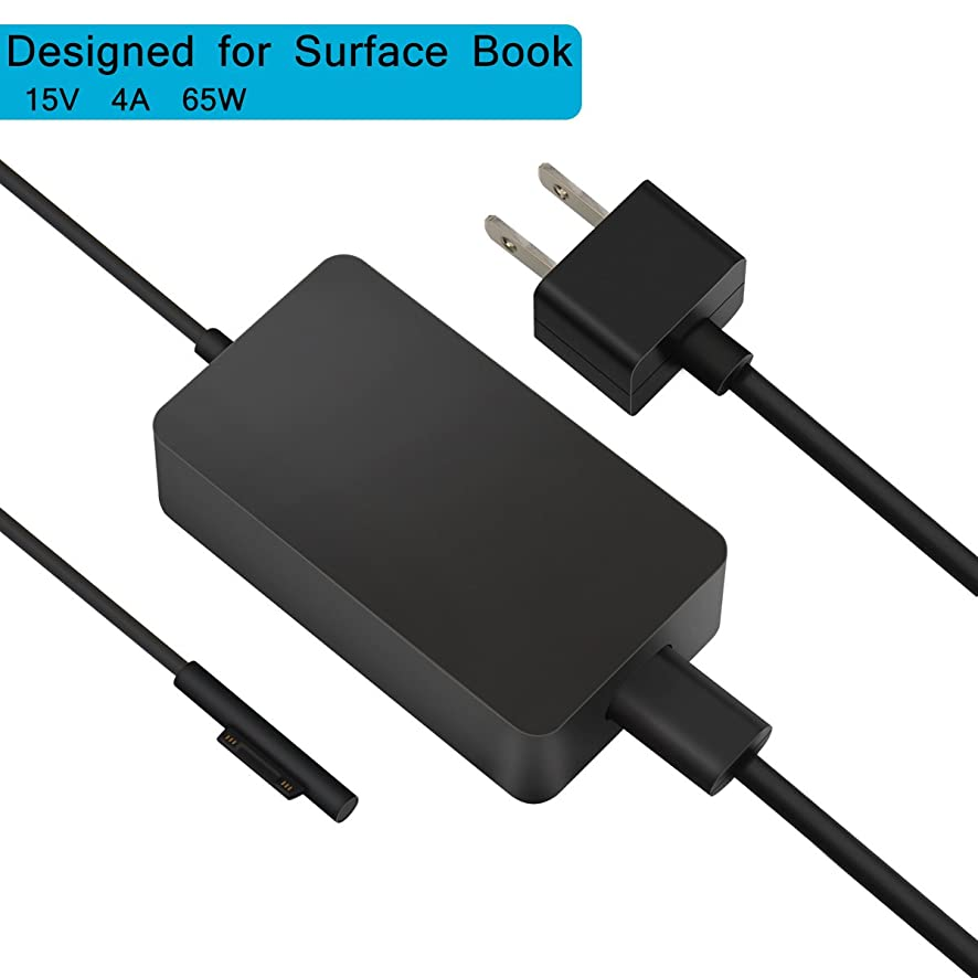 Surface Book Charger & Book 2 Charger, BINZET 15V 4A 65W Portable Charger for Microsoft Surface Book & Surface Book 2 & Surface Laptop and Microsoft Surface Pro 3/Pro 4/Pro 5/Pro 6