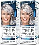 Garnier - Belle Color - Perle d'Argent - Crème déjaunisseur éclat cheveux gris - Gris Perle - Lot de 2