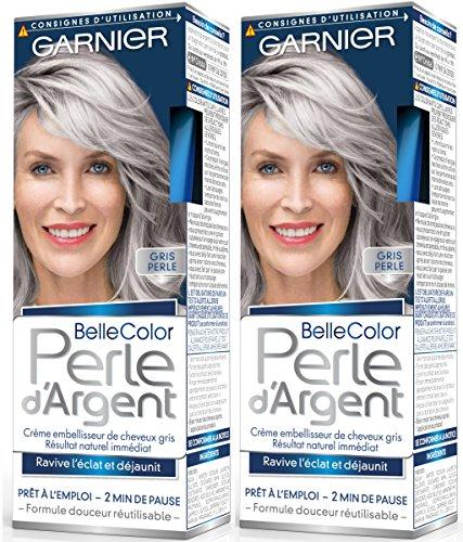 Garnier - Belle color plata perla - Crema gris brillo