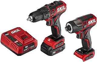 SKIL 2-Tool Drill Combo Kit: Pwrcore 12 Brushless 12V 1/2