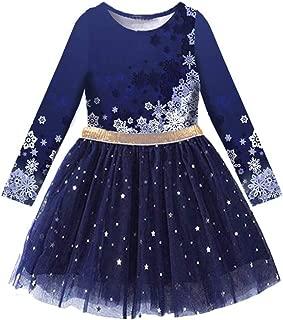 Toddler Flower Girl Dress Winter Long Sleeve Tutu Party Dresses for Girls 3-7 Years, Knee-Length