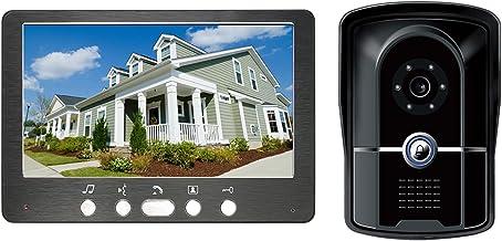 Videodeurbel, intercom, bekabelde deurkijker Deurinvoersysteem, 7 inch videodeurtelefoon Home Security Kit, monitor + IR-n...