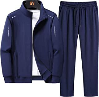 Men's outdoor casual fashion sports suit two-piece sportswear,Mens Tracksuit Set Gym Jogging Bottoms Casual Full Zip Jogge...