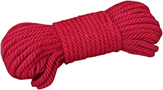 DRAGON SONIC Red Jute Twine - 65 ft - 6mm Diameter - Eco-Friendly Natural Jute String Rope#A