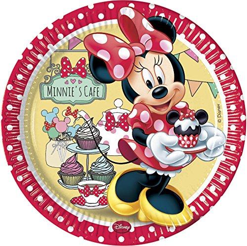 Disney 23cm Café Minnie Maus Pappteller, 8Stück