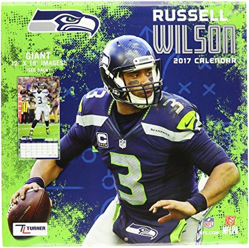 "Turner Licensing Sport 2017 Seattle Seahawks Russell Wilson Player Wall Calendar, 12""X12"" (17998011786)"