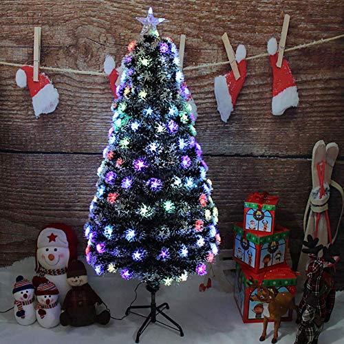 Árbol de Navidad artificial desmontable preiluminado, 4 pies de PVC Premium Abeto...