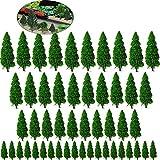 Xinlie Arbres Pins Modèles Miniatures en Plastique Arbre Miniature Modèle Arbres Modèle Train Arbres Paysage Arbre de Diorama Arbres d'Architecture pour DIY de Paysage Landscape,Vert Naturel(50Pièces)