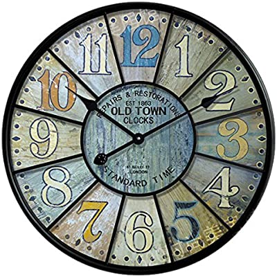 Y-Hui Watch the large living room wall clock,14 inches,Iron art