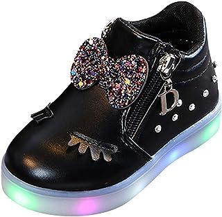 FRAUIT Sneaker Bambina Scarpe Bimbo Con Luci Led Scarpe Bambino Sportive Scarpine Antiscivolo Bambine Invernali Scarpe Bim...