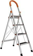 SogesHome Ladder Aluminum Ladder Step Ladder Folding Ladder Lightweight Multi Purpose Portable Home Ladder 4 Step,JF-004-SH