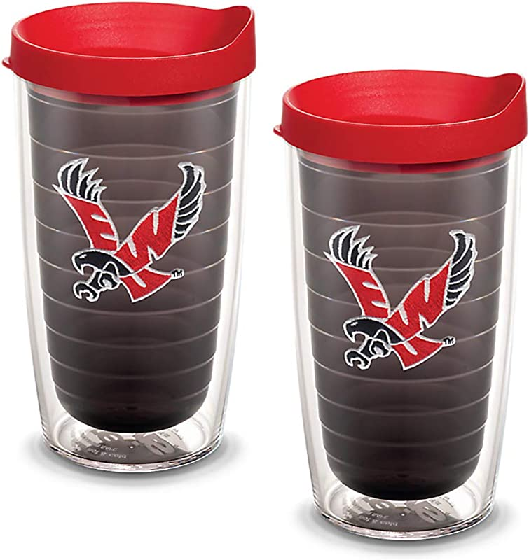 Tervis 1082307 Eastern Washington Eagles Logo Tumbler With Emblem And Red Lid 2 Pack 16oz Quartz