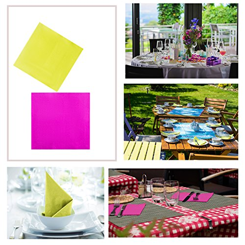 TWY 120 Pieces Beverage Paper Napkins 2-Ply Decorative Paper Table Napkins for Party , Mixed Color