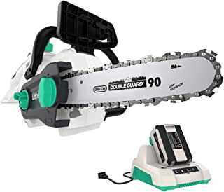 LiTHELi 40V 14 inches Cordless Chainsaw with Outrunner Brushless Motor, 2.5AH Battery and Charger