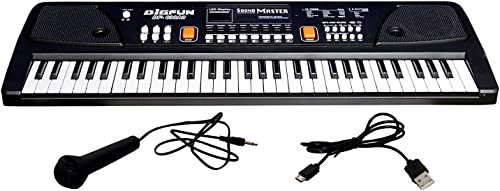 Shree Ram Light Electronic Piano Keyboard with 37 Keys and Microphone Black
