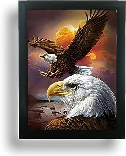 BANBERRY DESIGNS Eagle Poster – 3D Holographic Lenticular Print – Black..