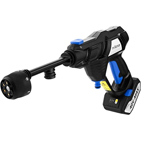 mrliance Pressure Washer 40V Cordless Power Washer M5233 Power Washer Cleaner, MAX 960 PSI Pressure Washer with Accessories 2 Batteries and Charger Included