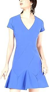 Bar III | Seam-Detail Fit & Flare Dress | Cobalt Glaze