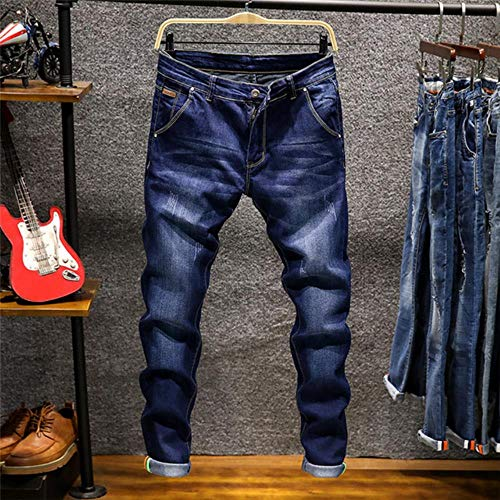 TOSISZ Skinny Jeans Men Zipper Fly Slim Fit Denim Joggers Stretch Male Jean Pencil Pants Blue Men's Jeans Fashion Casual