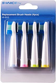 Sonicety Replacement Brush Heads for Sonicety HI-910 HI-503, 4-Pack