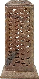 CRAFTSTRIBE Handmade Incense Stick Keeper Carved Soapstone Box Incense Burner Holder