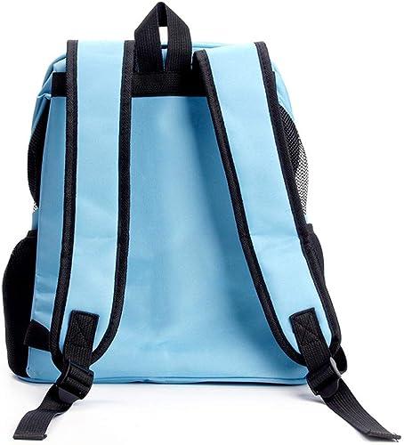 GJJ Haustierrucksack, tragbarer Kofür für Haustiere, Hundetasche, Katzentasche, Blauer Mitnehmrucksack, geeignet für Reisen im Freien zu Fu ull