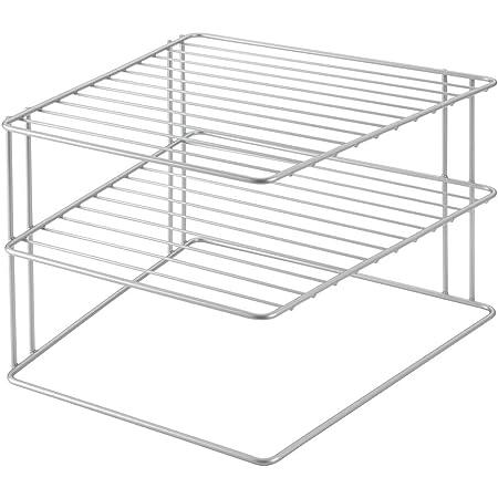 Metaltex 36400239095 Étagère d'angle Palio à 2 Étages 25 x 25 x 19 cm