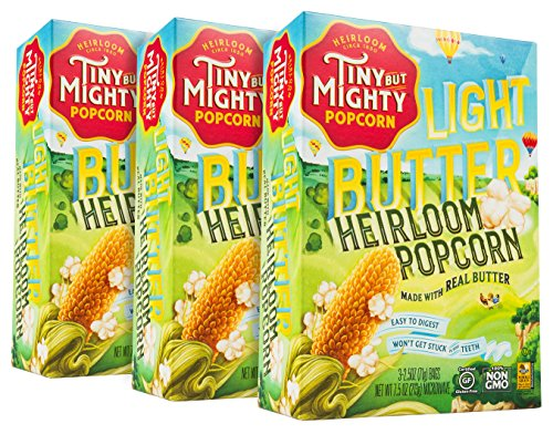 Tiny But Mighty Light Butter Heirloom Popcorn, for the Microwave, Pack...