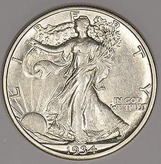 1934 S Walking Liberty Half Dollar 50c AU+