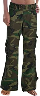 Molecule Women's Himalayan Hipsters Low Rise Flared Cargo Pants