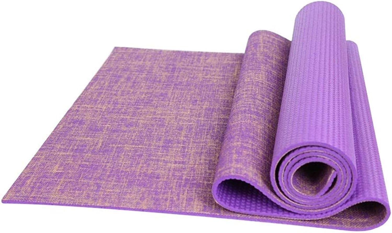 Yujiadian Leinen Yogamatte professionelle Rutschfeste geschmacklose Lange Anfngerin Sport Yoga Matte Fitnessmatte Bodenmatte