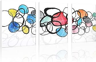 SDYA Colorful Creative Abstract Circles Wall Decor HD Wall Art Decor Prints Landscape Poster Canvas Art 12 inches x16 inches x3pcs